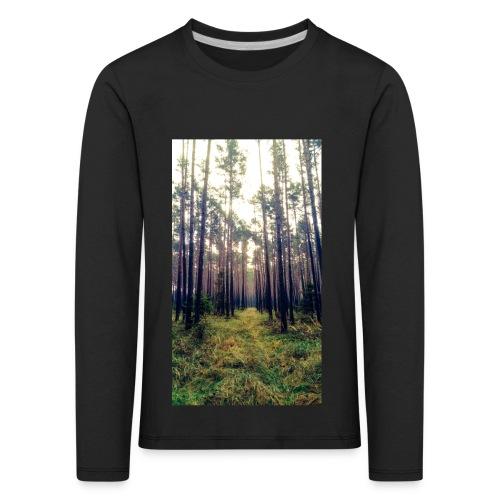Las we mgle - Koszulka dziecięca Premium z długim rękawem