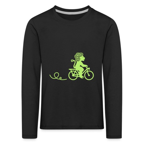 Züri-Leu beim Velofahren ohne Text - Kinder Premium Langarmshirt