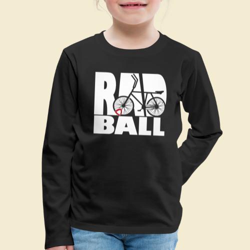 Radball   Typo - Kinder Premium Langarmshirt