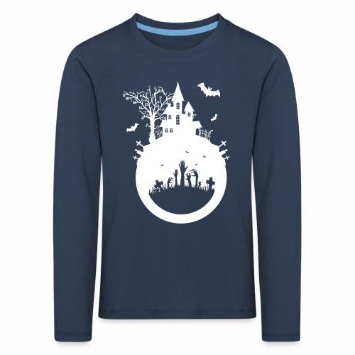 Halloween Design - Das Spukhaus - Kinder Premium Langarmshirt