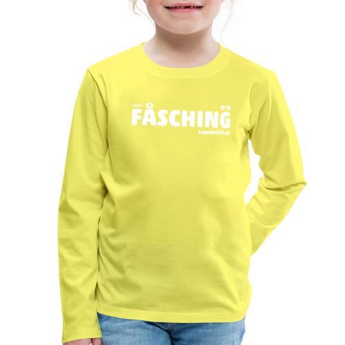 supatrüfö FASCHING - Kinder Premium Langarmshirt