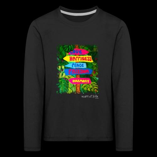 LOVE - Kinder Premium Langarmshirt