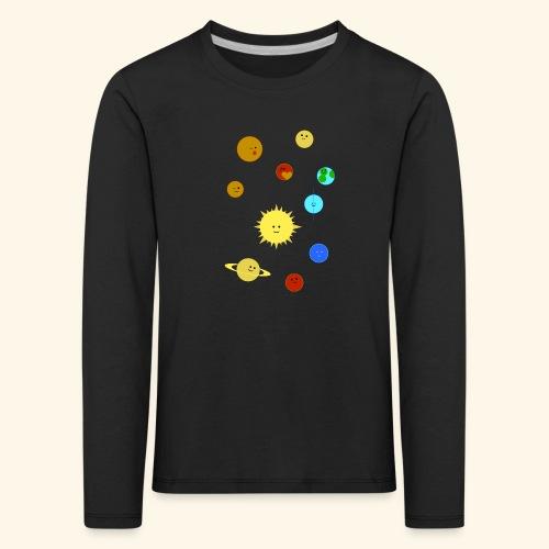 Solsystem svart - Långärmad premium-T-shirt barn