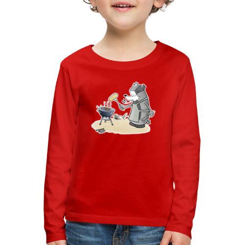 Grillmeister - Premium langermet T-skjorte for barn