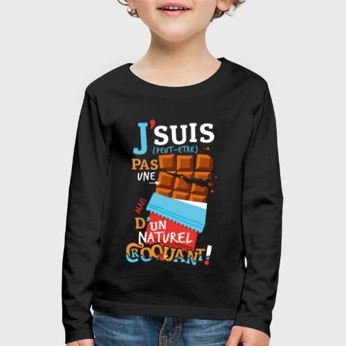 Tablettes de Chocolat - T-shirt manches longues Premium Enfant