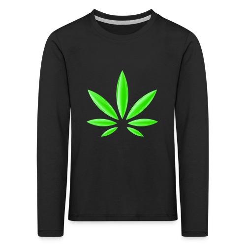 T-Shirt Design für Cannabis - Kinder Premium Langarmshirt