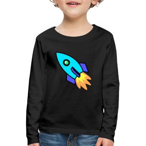 Blue rocket - Kids' Premium Longsleeve Shirt