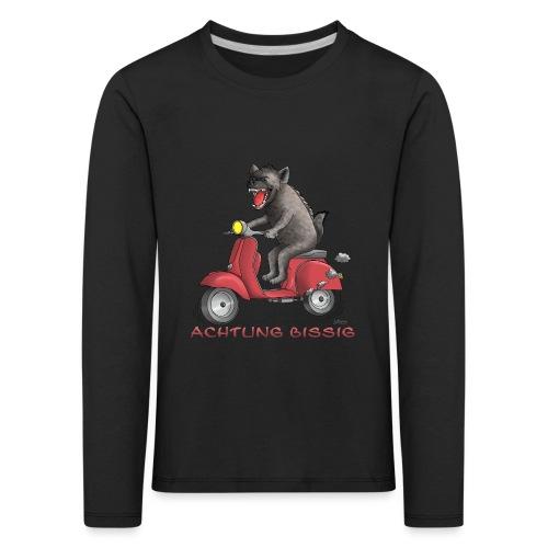 Hyäne - Achtung bissig - Kinder Premium Langarmshirt