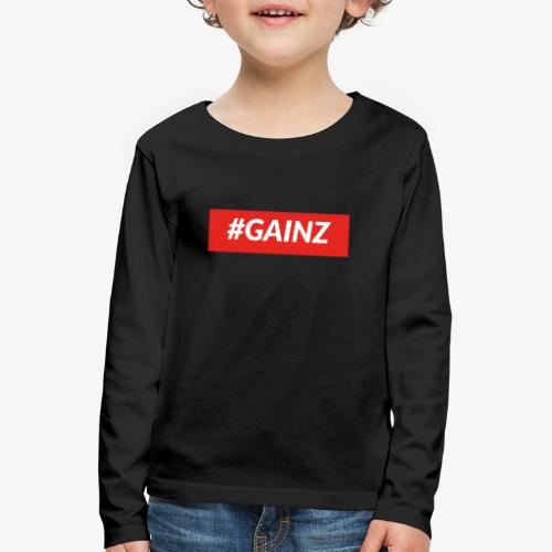 Gainz by Simon Mathis - Kinder Premium Langarmshirt