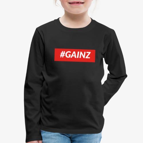 Gainz by Simon Mathis - Kinder Premium Langarmshirt