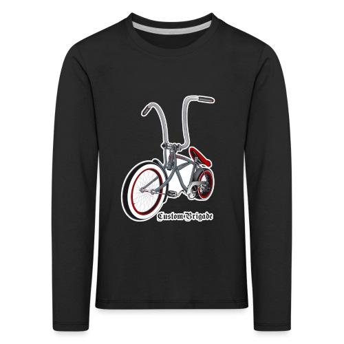 velo01 transparent - T-shirt manches longues Premium Enfant