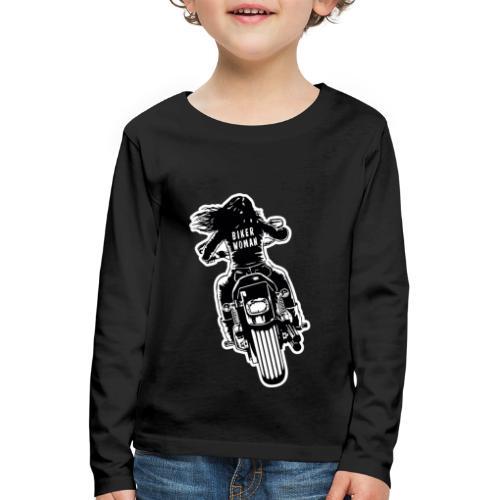 Biker Woman - Camiseta de manga larga premium niño