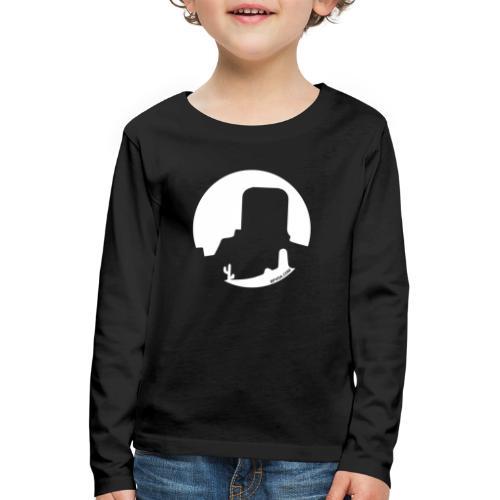 Logo French Wester blanc - T-shirt manches longues Premium Enfant