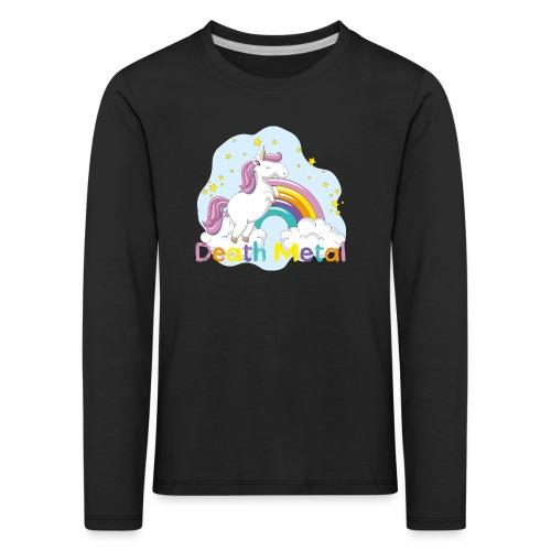 unicorn death metal - Kinderen Premium shirt met lange mouwen