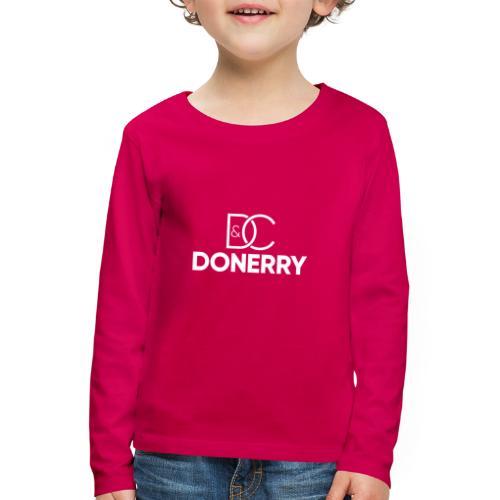 DONERRY New White Logo on Dark - Kids' Premium Longsleeve Shirt