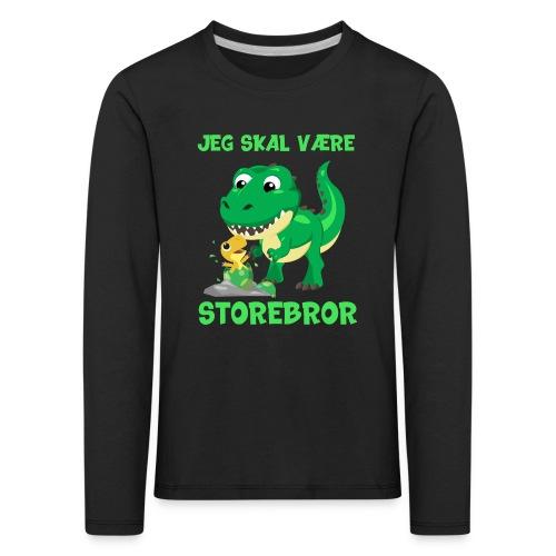 Jeg skal være storebror dinosaur gave dino - Børne premium T-shirt med lange ærmer