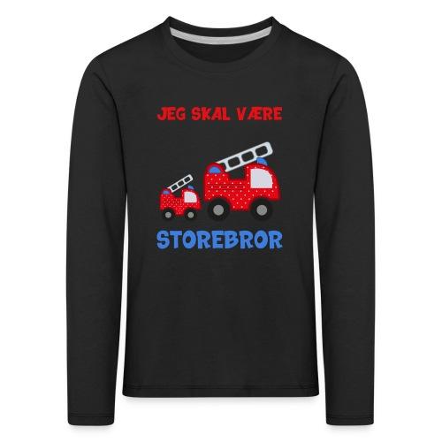 Jeg skal være storebror brandbil gave brandvæsen - Børne premium T-shirt med lange ærmer