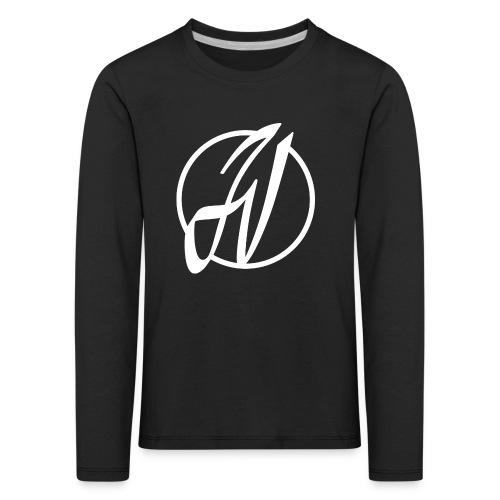 JV Guitars - logo blanc - T-shirt manches longues Premium Enfant