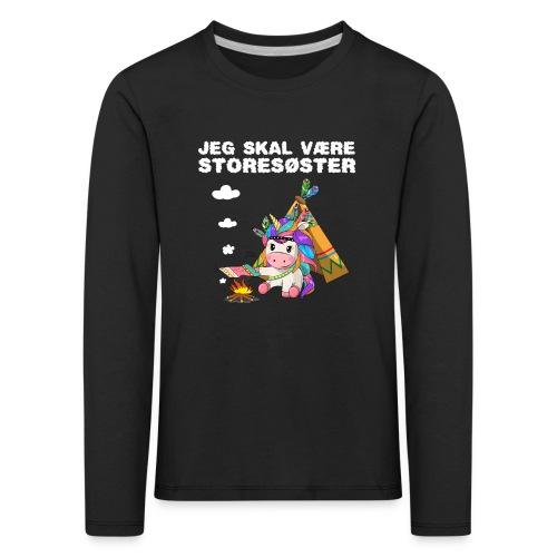 Jeg skal være storesøster enhjørning gave fødsel - Børne premium T-shirt med lange ærmer