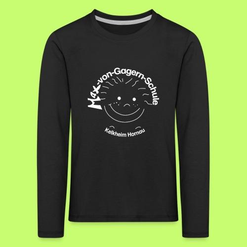Mäxchen Logo weiß - Kinder Premium Langarmshirt