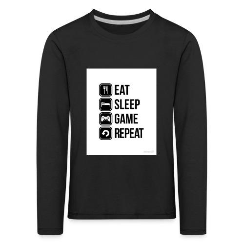 Eat Sleep Game Repeat Collection - Kids' Premium Longsleeve Shirt