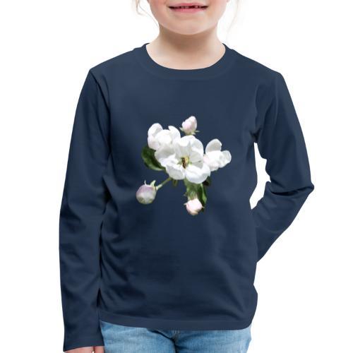 Omenankukka ja kukkakärpänen - Lasten premium pitkähihainen t-paita