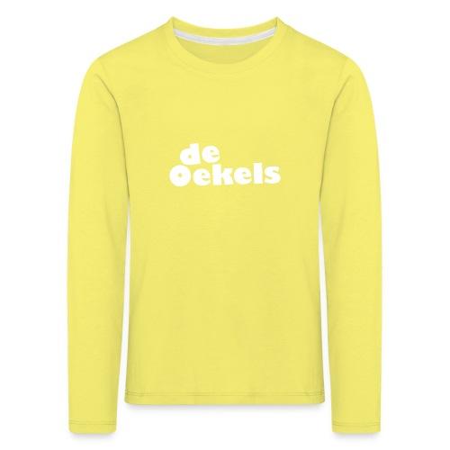 DeOekels t-shirt Logo wit - Kinderen Premium shirt met lange mouwen