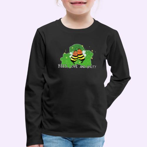 Bees Love and Unity - Kinder Premium Langarmshirt