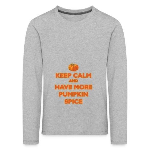 KeepCalmPumpkinSpice - Maglietta Premium a manica lunga per bambini