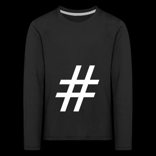 Hashtag Team - Kinder Premium Langarmshirt