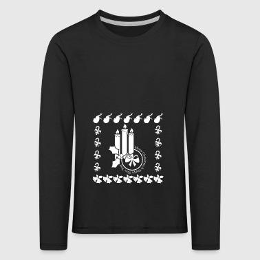 Christmas Advent Advent Candle Candles - Kids' Premium Longsleeve Shirt