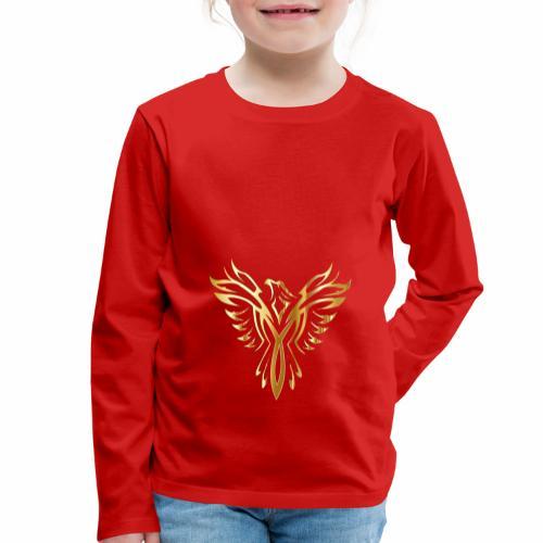 Złoty fenix - Koszulka dziecięca Premium z długim rękawem