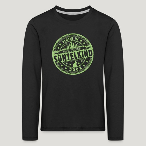 SÜNTELKIND 2002 - Das Süntel Shirt mit Süntelturm - Kinder Premium Langarmshirt