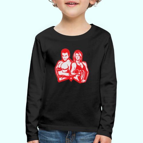 Man & woman NLB - Lasten premium pitkähihainen t-paita