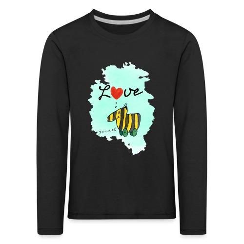 Janosch Tigerente Love Türkis SP - Kinder Premium Langarmshirt
