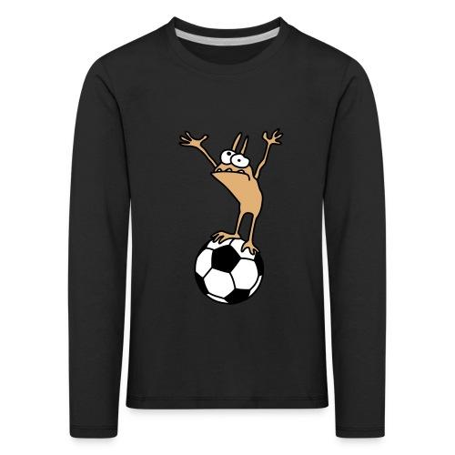 Kobold mit Fußball - Kids' Premium Longsleeve Shirt