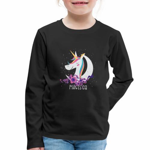 Magisches Einhorn - Kinder Premium Langarmshirt