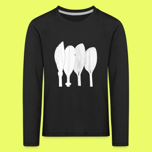 PaddelFamilie Bleistift - Kinder Premium Langarmshirt