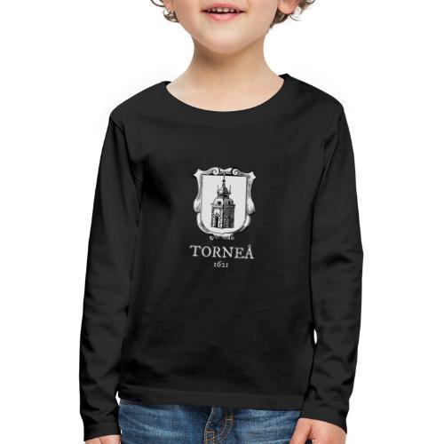 Torneå 1621 vaalea - Lasten premium pitkähihainen t-paita