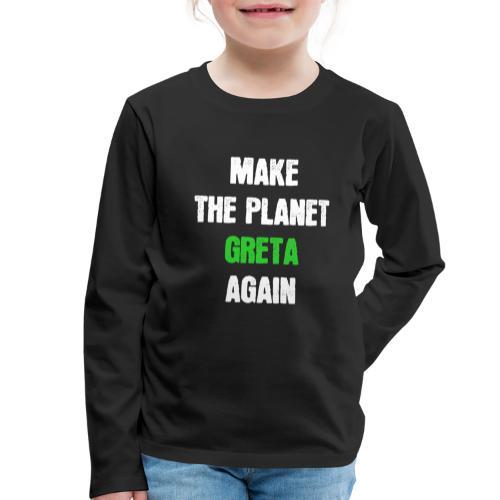 Greta Umweltschutz Welt Klimaschutz Klimawandel - Kinder Premium Langarmshirt