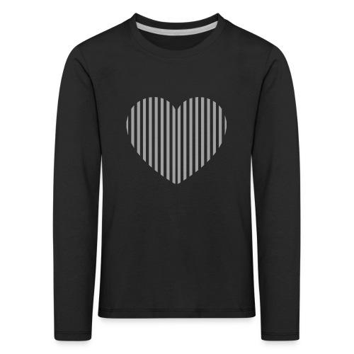 heart white png - Kids' Premium Longsleeve Shirt