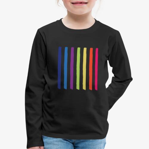 Linee - Maglietta Premium a manica lunga per bambini
