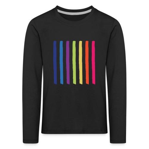 Linjer - Børne premium T-shirt med lange ærmer