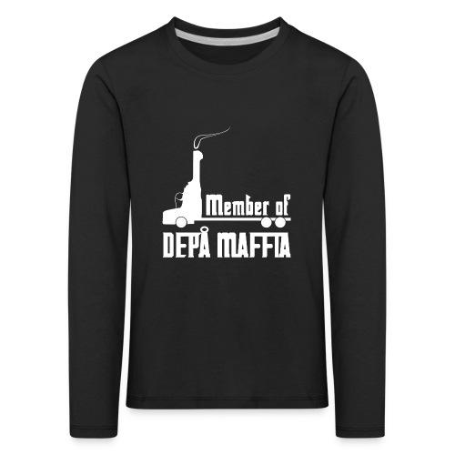 Depå Maffia vitt tryck - Långärmad premium-T-shirt barn