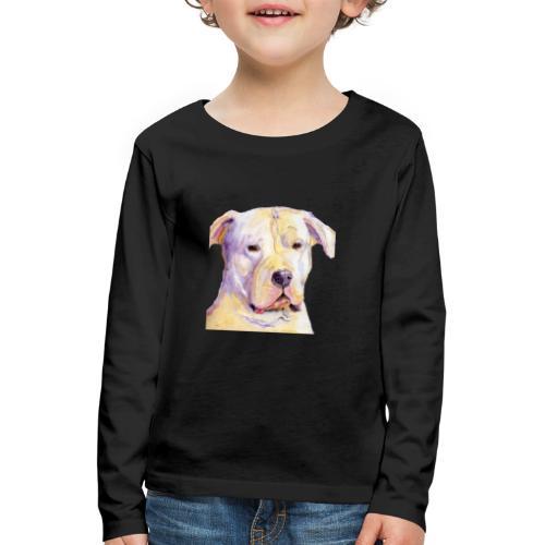 dogo argentino - Børne premium T-shirt med lange ærmer