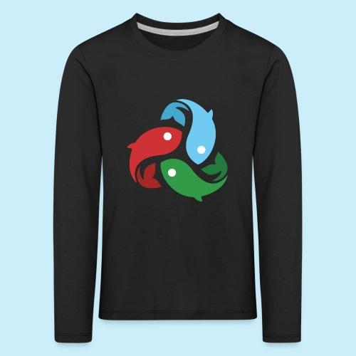 De fiskede fisk - Børne premium T-shirt med lange ærmer