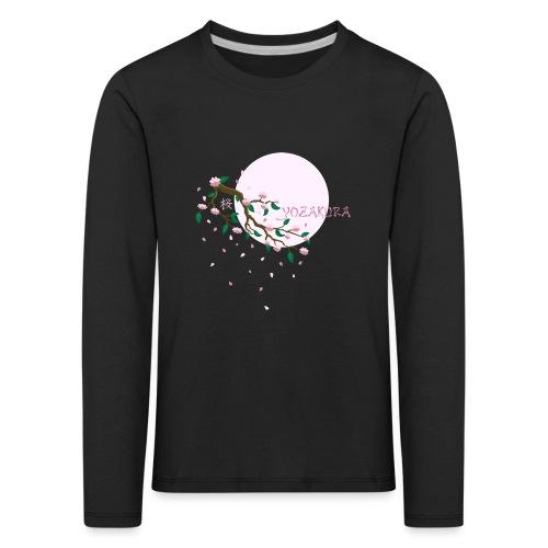 Cherry Blossom Festval Full Moon 1 - Kinder Premium Langarmshirt