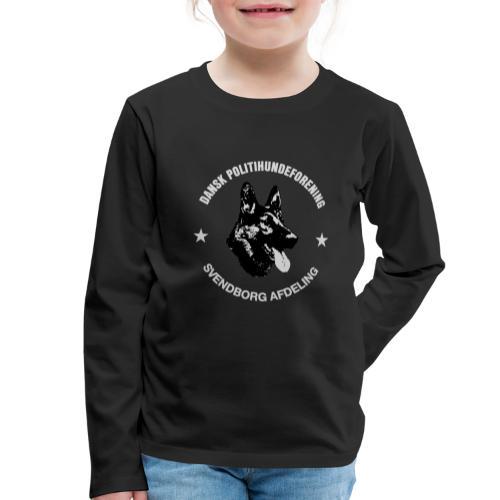 Svendborg PH hvid skrift - Børne premium T-shirt med lange ærmer