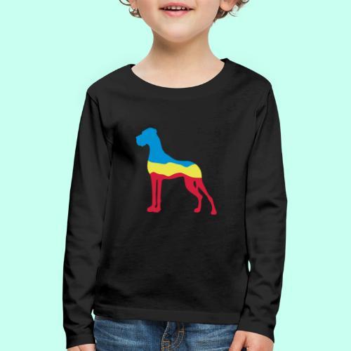 Flaggen Dogge - Kinder Premium Langarmshirt