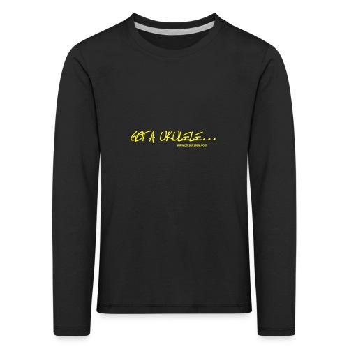 Official Got A Ukulele website t shirt design - Kids' Premium Longsleeve Shirt